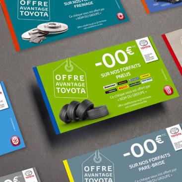 Chèques personnalisables - Toyota France