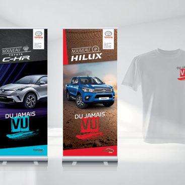 Identité graphique lancement 3 véhicules - Toyota France