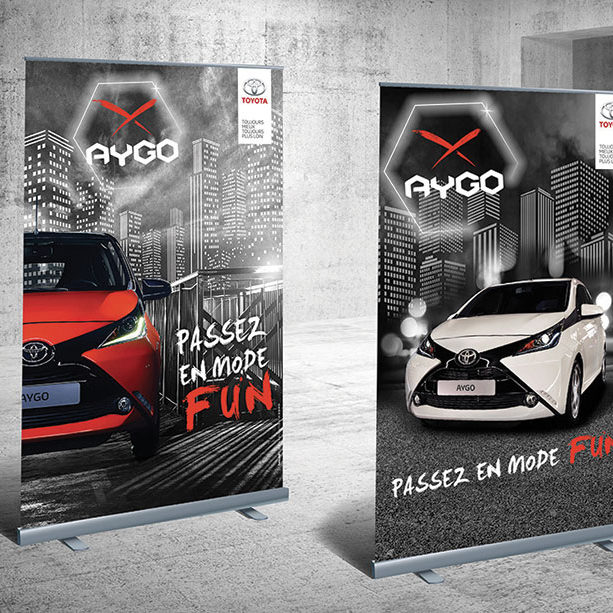 Roll'up lancement Aygo - Toyota France