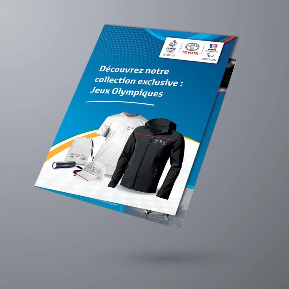 Graphiste Freelance - Plaquette Gamme Produits Jeux Olympiques - Toyota France