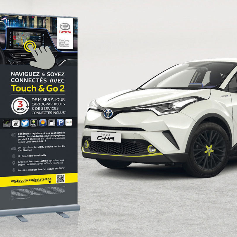 Graphiste Freelance - Roll'up Touch & Go - TOYOTA FRANCE